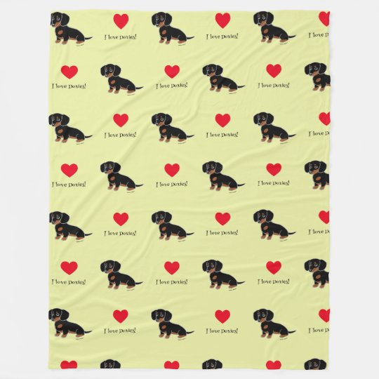 Black and Tan Dachshund Cute Eyes Fleece Blanket