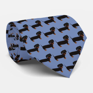 Black And Tan Dachshund Tie