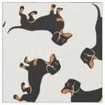 Black and Tan Dachshunds Fabric