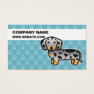 Black And Tan Dapple Smooth Coat Dachshund Dog Business Card