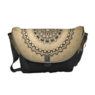 Black and Tan Kaleidoscope Courier Bags