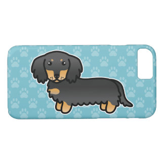 Black And Tan Long Coat Dachshund Cartoon Dog iPhone 8/7 Case