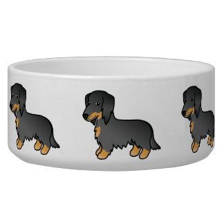 Black And Tan Long Coat Dachshund Dog Dog Water Bowls