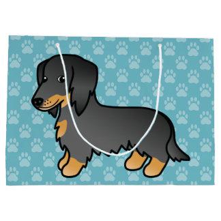 Black And Tan Long Coat Dachshund Dog Large Gift Bag