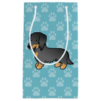 Black And Tan Long Coat Dachshund Dog Small Gift Bag