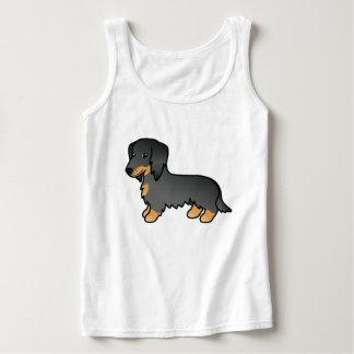Black And Tan Long Coat Dachshund Dog Tank Top