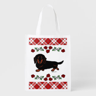 Black and Tan Long Haired Dachshund 1