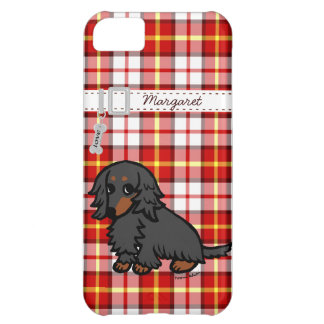 Black and Tan Long Haired Dachshund 2 iPhone 5C Case