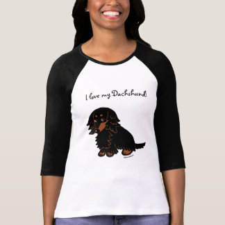 Black and Tan Long Haired Dachshund 3 T-Shirt