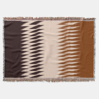 Black and Tan Modern Print Throw Blanket