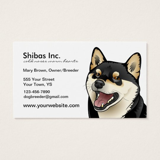Black and Tan Shiba Inu Dog Customisable card