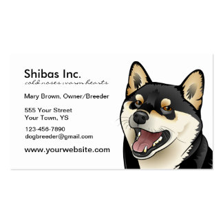 Black and Tan Shiba Inu Dog Customizable card Pack Of Standard Business Cards