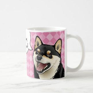 Black and Tan Shiba Inu Japanese Dogs are Love mug