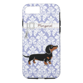 Black and Tan Smooth Dachshund Posing iPhone 7 Case