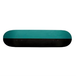 Black and Teal Split Color Scheme Skate Boards