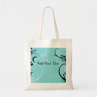 Black and Turquoise Floral Bags