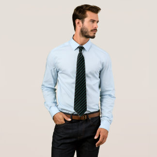 Black and Turquoise Pinstripe, Double Tie