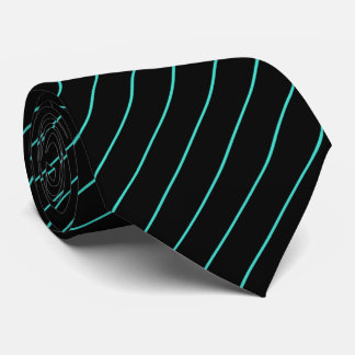 Black and Turquoise Pinstripe Tie