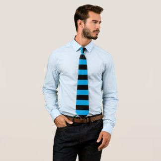 Black and Turquoise Striped Tie
