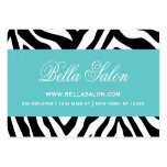 Black and Turquoise Zebra Stripes Animal Print