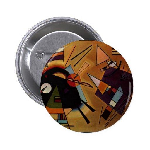 Black and Violet, Kandinsky Pinback Button