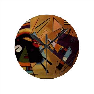 Black and Violet, Kandinsky Round Clock