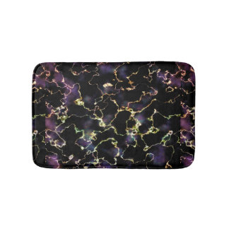 Black and Violet Marble Bath Mat