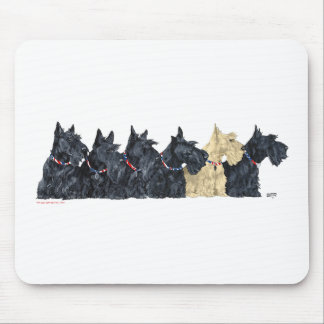 Black and Wheaten Scottish Terriers Mouse Mat