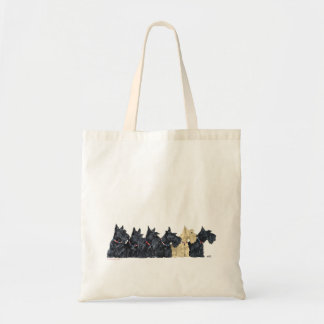 Black and Wheaten Scottish Terriers Tote Bag