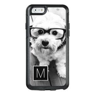 Black and White 1 Photo Collage Custom Monogram OtterBox iPhone 6/6s Case