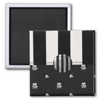 Black and White  (2) Square Magnet