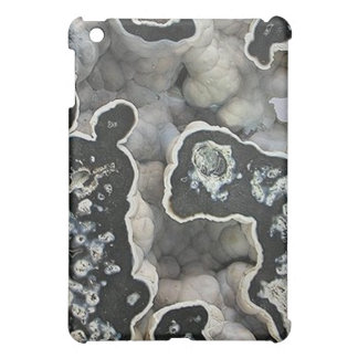 Black and White 3D Geode iPad Mini Cases