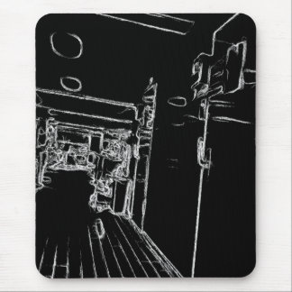 black and white a room mouse pad