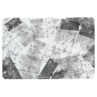 Black And White Abstract #1 Floormat Floor Mat