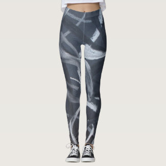 Black and White Abstract 7 Leggings