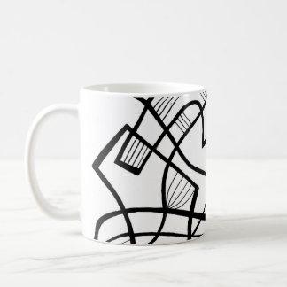 Black and White Abstract Basic White Mug