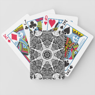 Black And White Abstract Bicycle Playing Cards