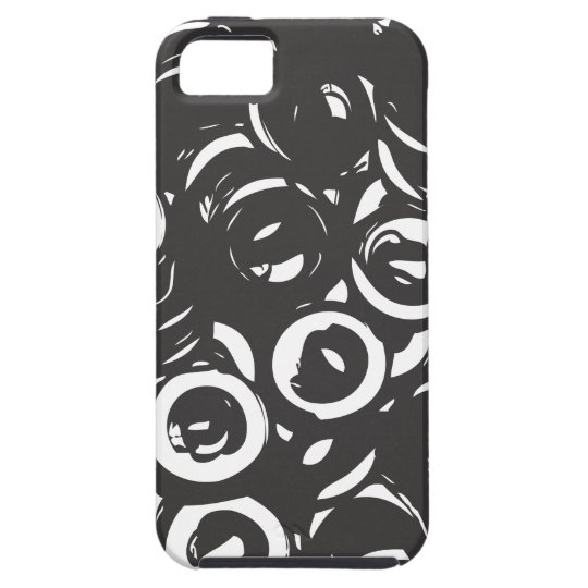 Black and white abstract bolts tough iPhone 5 case