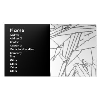 Black and white abstract business card templates