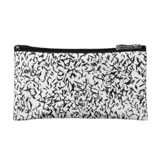 Black and white abstract cosmetic bag