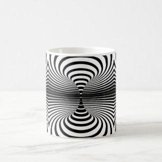Black and White Abstract Design Magic Mug