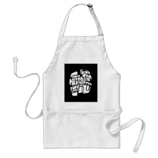 Black and white abstract design standard apron