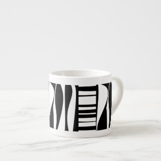 Black and White Abstract Espresso Mugs