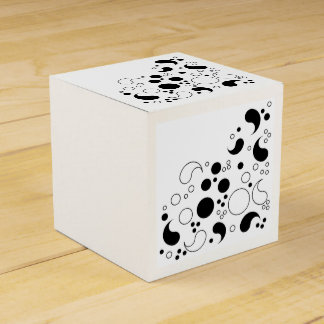 Black and White Abstract Favor Box