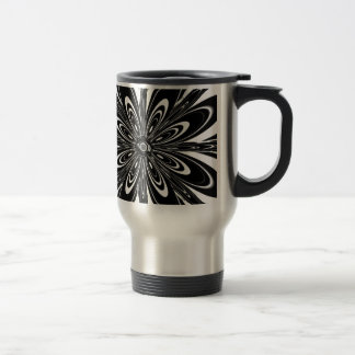 Black and White Abstract Flower Coffee Mugs