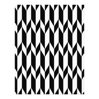 Black and White Abstract Graphic Pattern Flyers