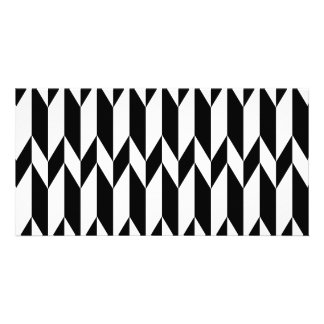 Black and White Abstract Graphic Pattern Photo Card Template