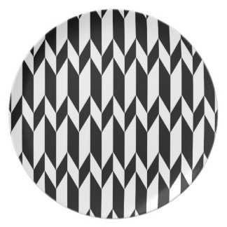 Black and White Abstract Graphic Pattern. Plate