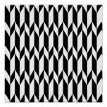 Black and White Abstract Graphic Pattern. Poster