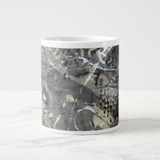 Black and White Abstract Grunge Artsy Jumbo Mug